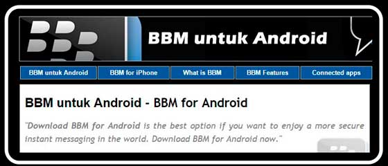 BBM for Android - BBM untuk Android